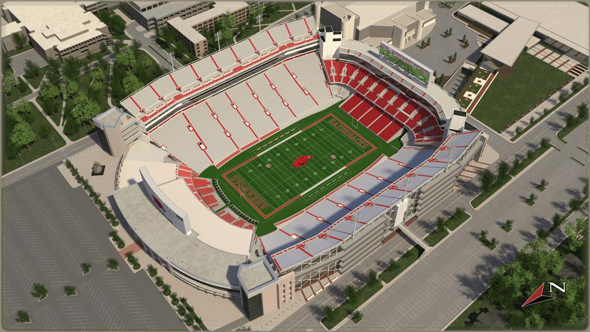 U Of Arkansas >> University Of Arkansas Razorback Stadium